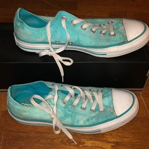 Light Blue Tie Dye Converse